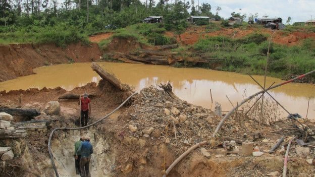 Mineros en plena faena.