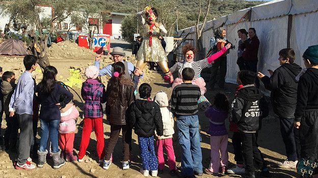 Payasos sin fronteras, Lesbos