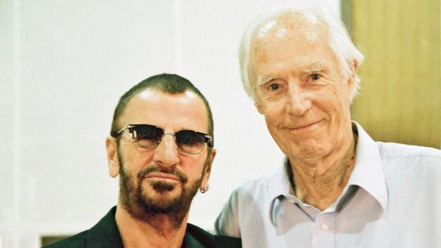 George Martin y Ringo Starr