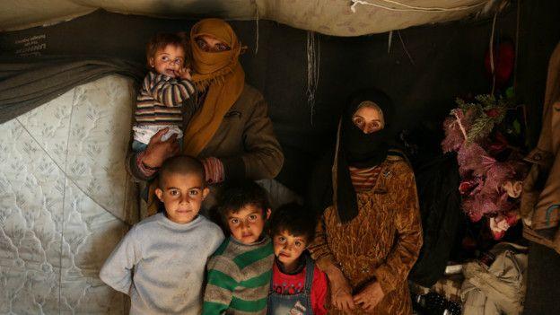 Familia en Ghouta
