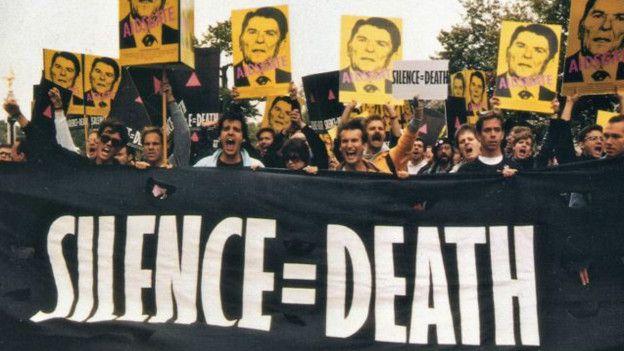 Manifestación contra Ronald Reagan