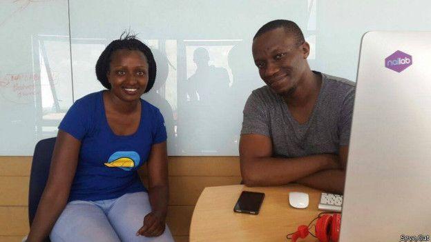 Seve Gat con el empresario Sam Gichuru