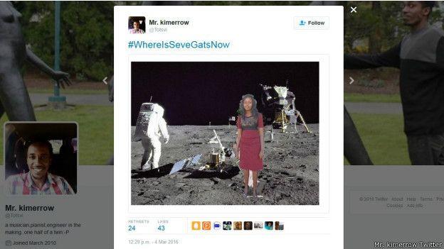Sege Gat insertada en foto en la Luna