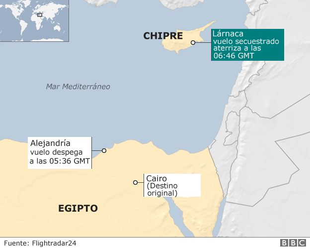 Mapa Egipto  Chipre