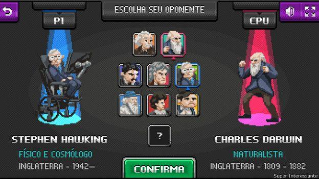 Imagen de los ocho cientificos del juego