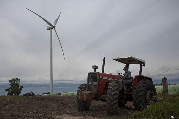 Molino de viento en Uruguay