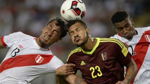 Jugadores de Venezuela y Chile