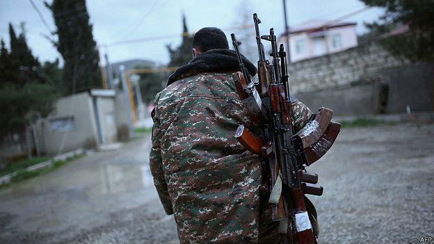 Член вооруженных формирований Нагорного Карабаха