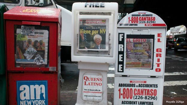 Periódicos en Elmhursts, Nueva York