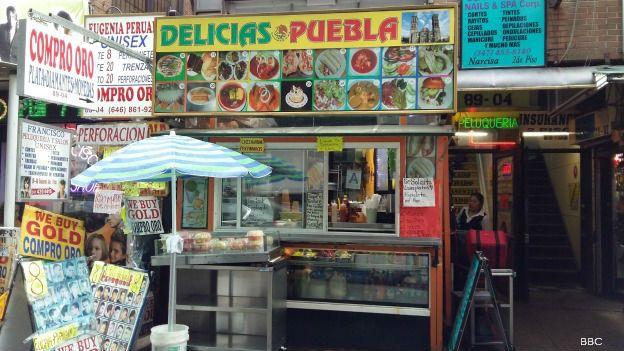 Negocio mexicano en Elmhursts, Nueva York