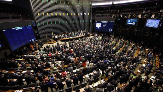 Camara de Diputados de Brasil vota el juicio político a la presidenta Dilma Rousseff.