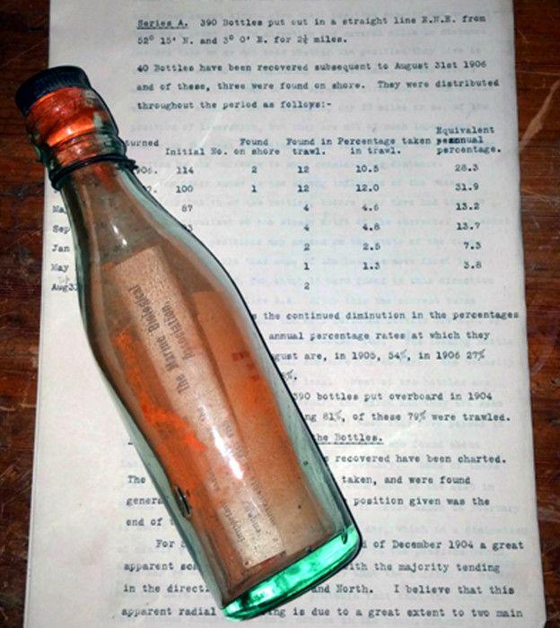 На германском острове Амрум отыскали самую старую бутылку сзапиской