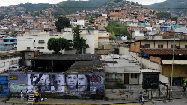 Zona popular de Caracas