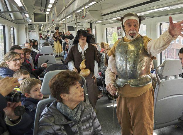 Актеры в поезде