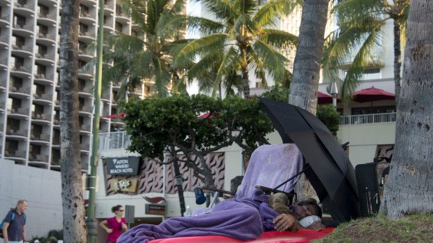 Sin casa en Honolulu