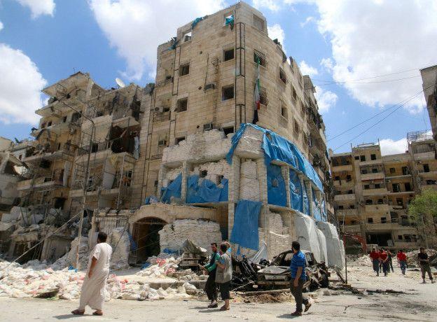 Restos del hospital Al Quds