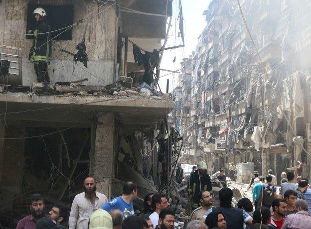 Una calle destrozada de Alepo