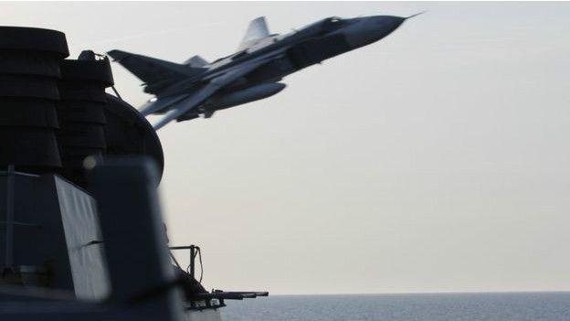 Avión ruso cerca a un lanzamisiles de EE.UU.