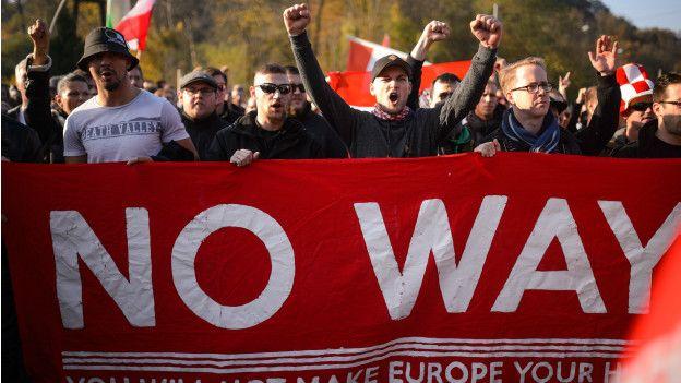 Protesta en Austria