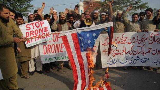 Protesta en Pakistán por un ataque con dron de EE.UU.