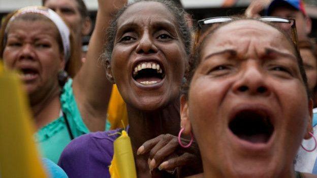La oposición se manifestó contra el gobierno este sábado en Caracas