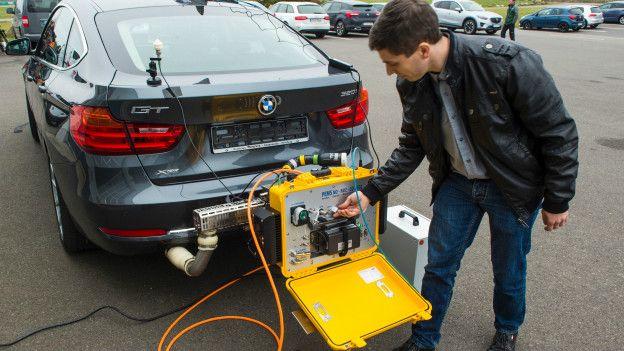 Un medidor portatil de emisiones