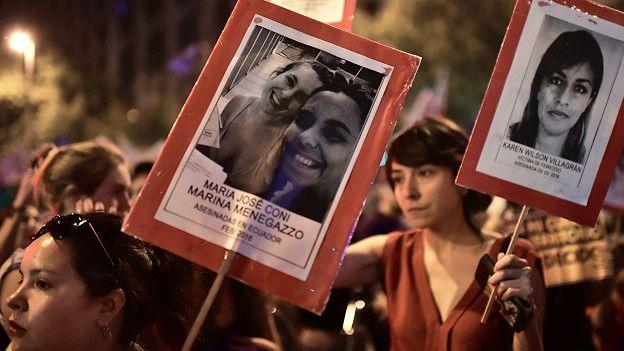 Protesta de mujeres en Chile