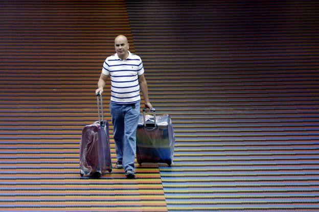 Viajero en el aeropuerto de Maiquetía