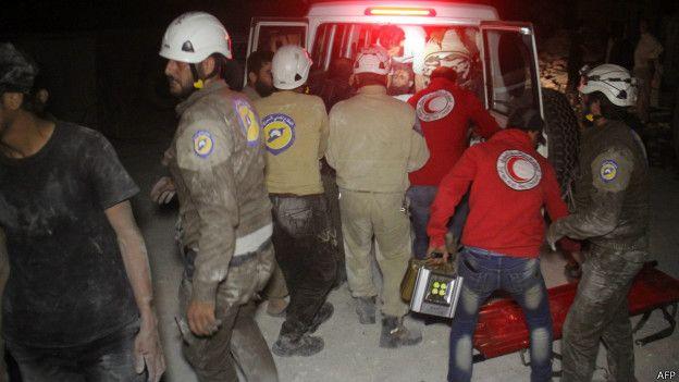 Сирия: пострадвашие от российских авиударов около Идлиба