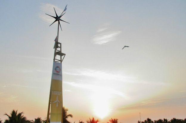 La turbina está instalada en la iglesia Madre de Deus, en el Estado indio de Kerala.