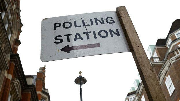 Избирательный участок в центре Лондона