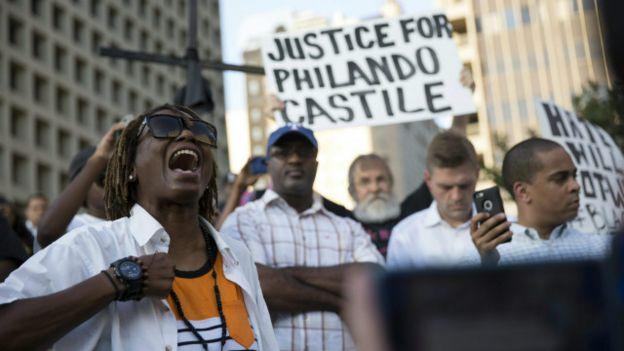 Tuần hành tại Dallas hôm 7/7 phản đối cảnh sát bắn người da đen