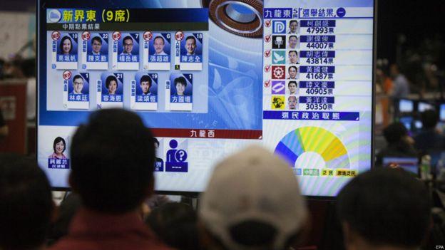 選民關注選舉結果。