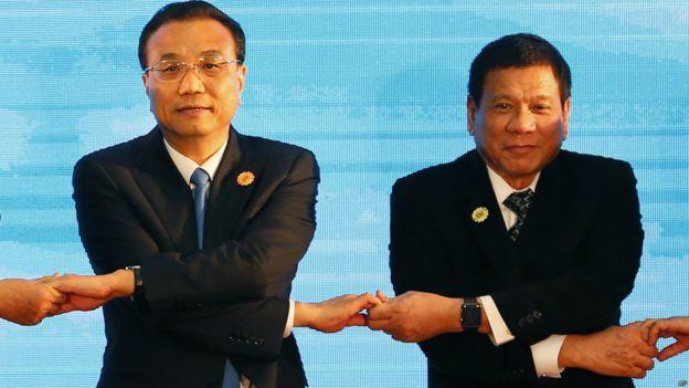 中國總理李克強和菲律賓總統杜特爾特