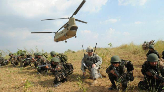 美國駐馬尼拉大使館官員說,華盛頓尚未收到菲律賓政府取消菲美聯合軍演的正式通知。