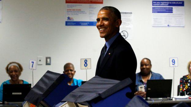 奧巴馬在周五提前投票