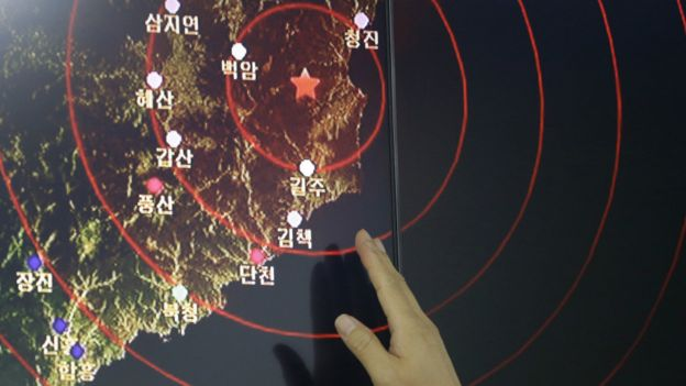 韓國探測到朝鮮地震信號的圖表