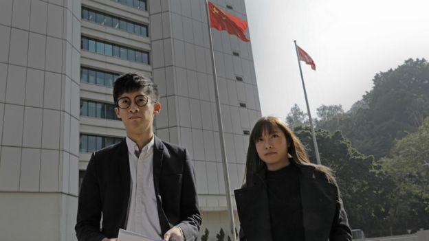 游蕙祯(左)与梁颂恒(右)(30/11/2016)