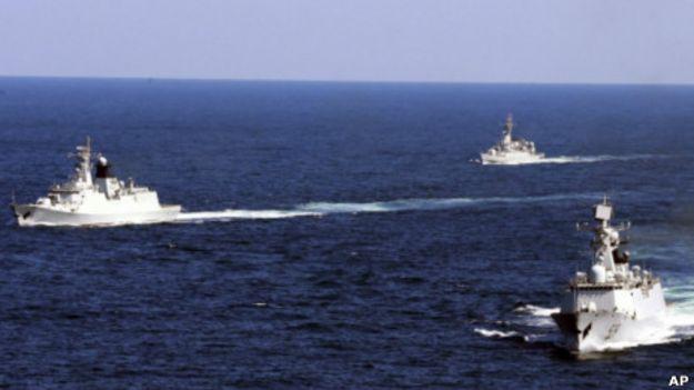 Hải quân Trung Quốc tập trận ở phía Đông nước này.