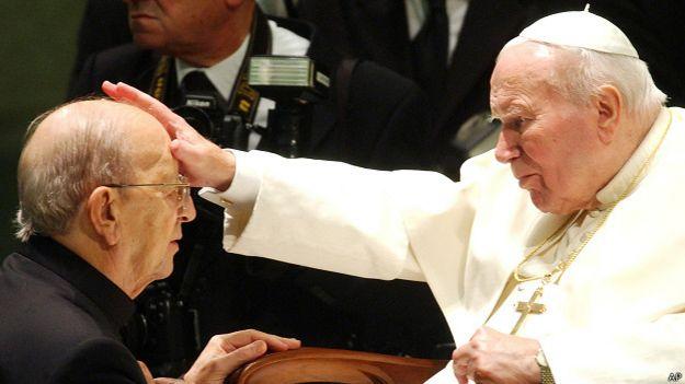 Marcial Maciel con Juan Pablo II