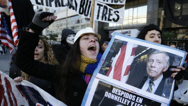 Protesta contra el juez Griesa