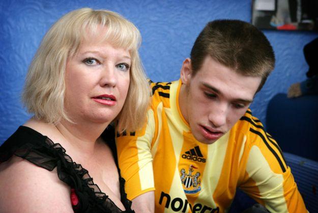 Шарон Бернарди с сыном Эдвардом