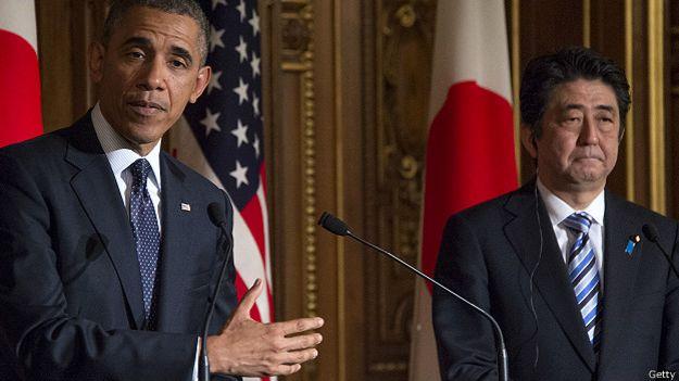 Президент США и премьер-министр Японии