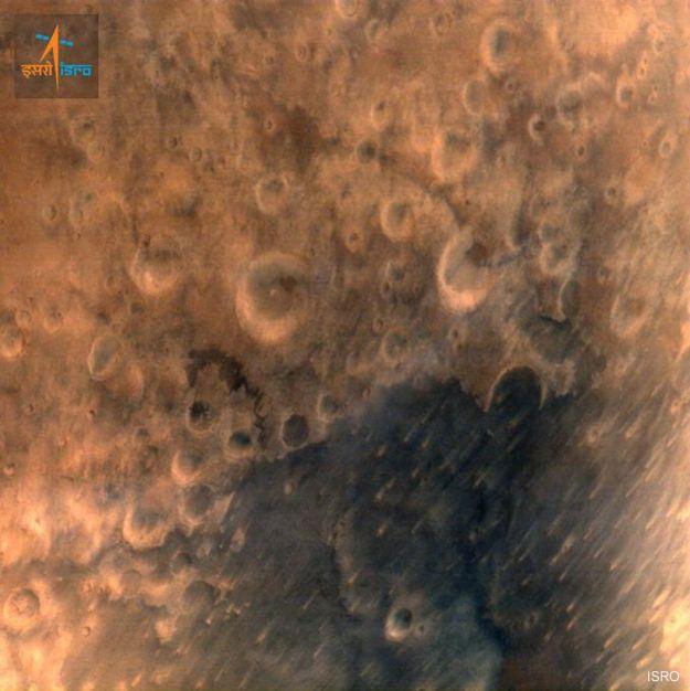 Foto de Marte desde el satélite indio