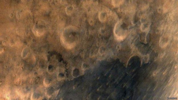 Foto divulgada pela agência espacial da Índia (Reuters)