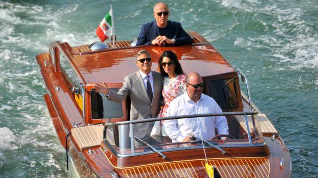 Джордж Клуни и Амаль Аламуддин в Венеции