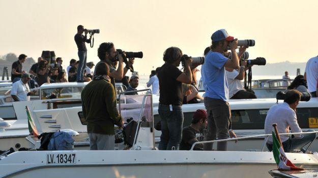 Репортеры в Венеции