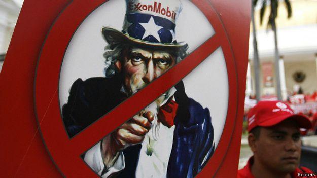protesta contra exxon en caracas