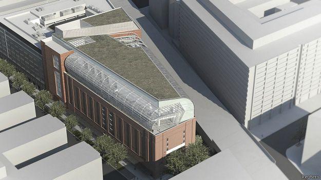 exterior del propuesto Museo de la Biblia