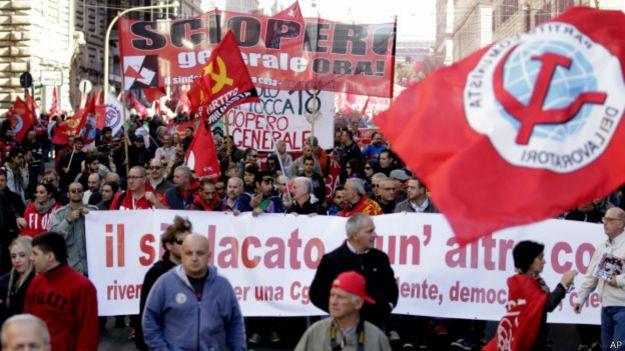 В Риме протестуют против реформы законов о труде